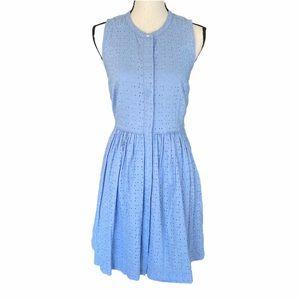 J. Crew Blue Eyelet Dress. Size 6